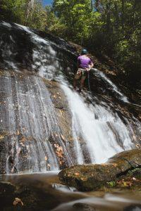 Waterfall Rappel Cove Creek: Canyoneering North Carolina