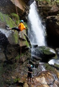 Canyoneering waterfall rappelling asheville